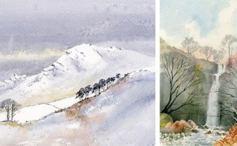 David Bellamy two paintings