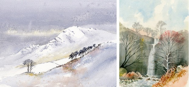 David Bellamy two paintings