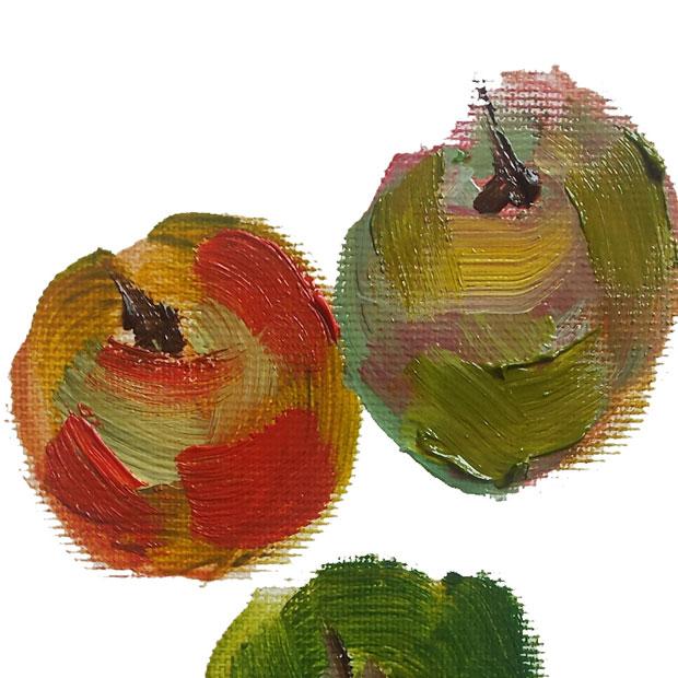 Hanna Ivory Baker apples test detail
