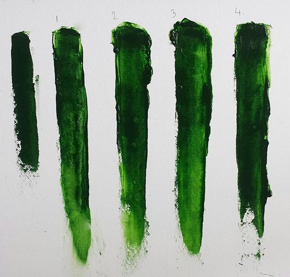Hannah Ivory Baker -test chart palette knife
