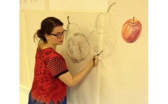 Julie Caves at a Big Draw event in Walthamstow
