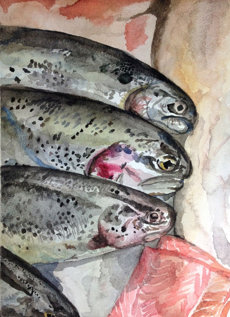 Lucy Tittle Watercolour painting on Aquabord