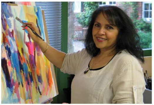 Soraya French in her studio