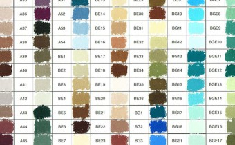 Unison Pastels Hand-Painted Colour Chart