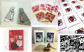 Linocut Christmas Cards