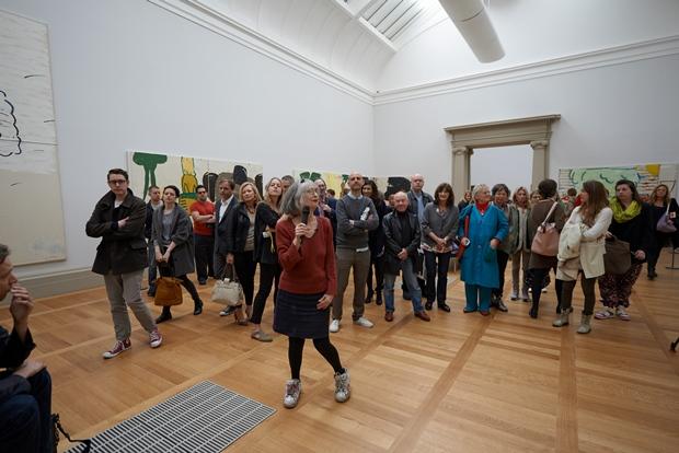 Rose Wylie gives a talk at BP Spotlight at Tate Britain