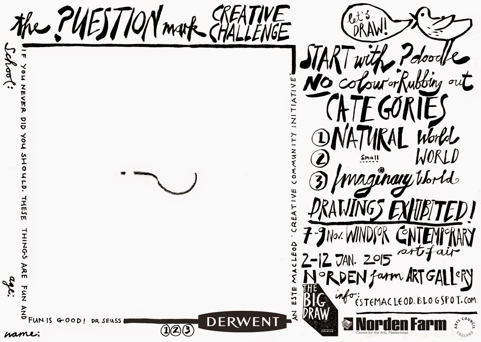 Scribble Drawing Question : The question mark creative challenge jackson s art
