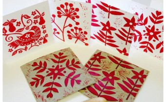 Lizzie Mabley Winner Lino print your own holiday Cards
