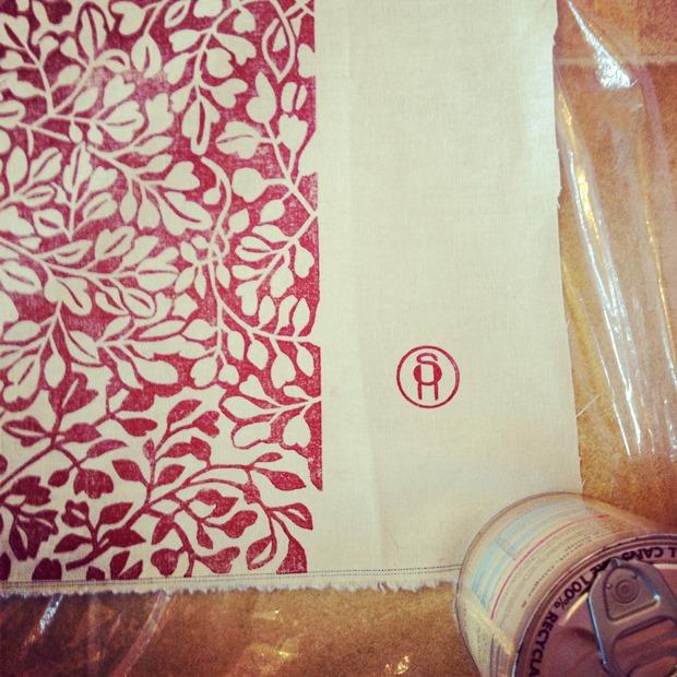 Susie Heatherington: Printing on the kitchen floor