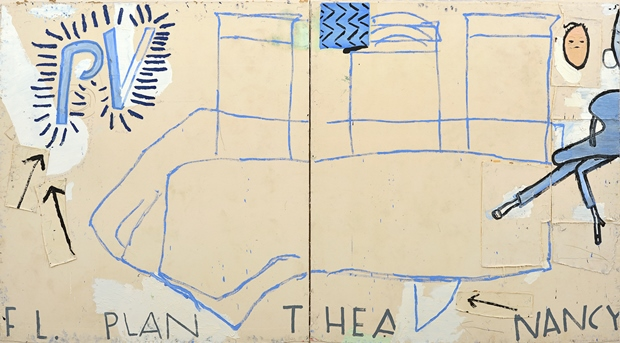 Rose Wylie: 'PV Plan' Courtesy of the Artist and UNION Gallery