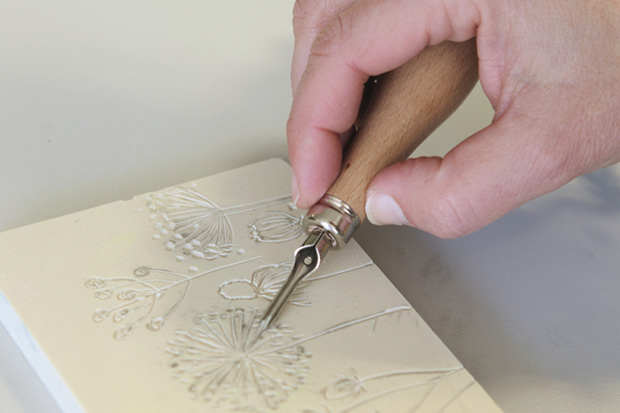 Schmincke Lino tutorial - Lino print your own holiday cards