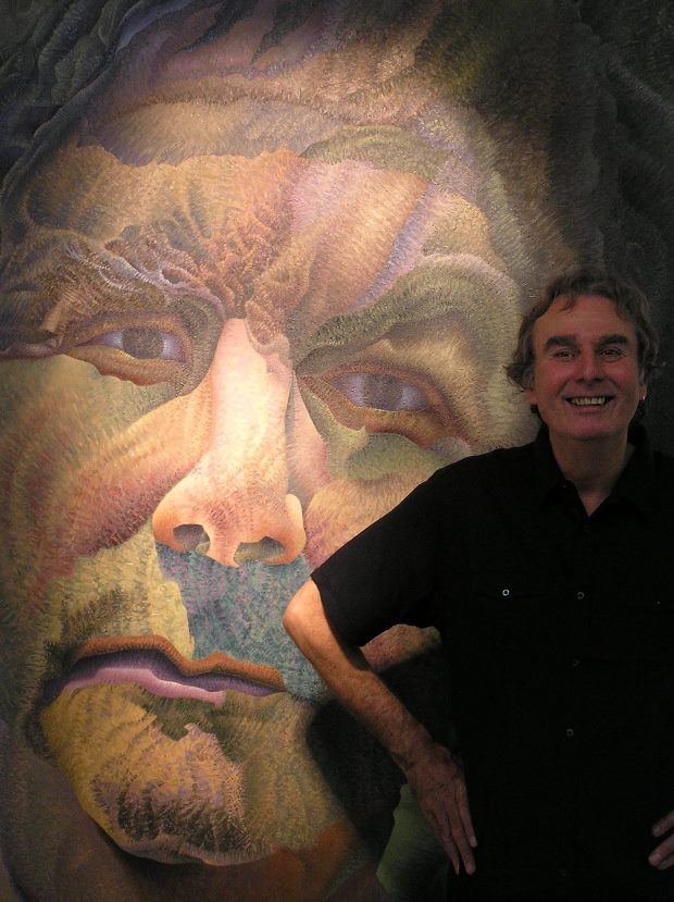 Godfrey Blow and his painting 'The Defiant Survivor'