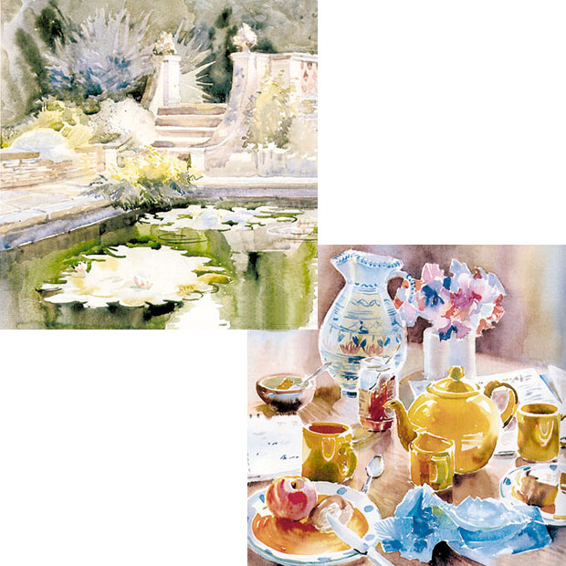 Karen Simmons watercolour paintings