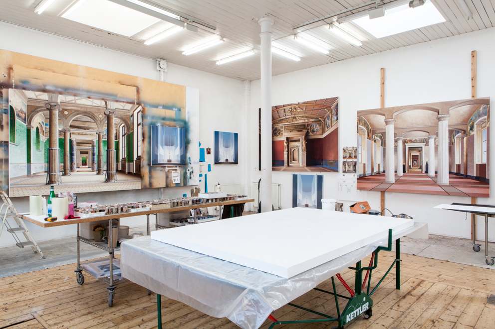 Ben Johnson: Studio Shot of 'Roman Room, 'Room of the Niobids' and 'Fatherland Room' (image courtesy of the artist)