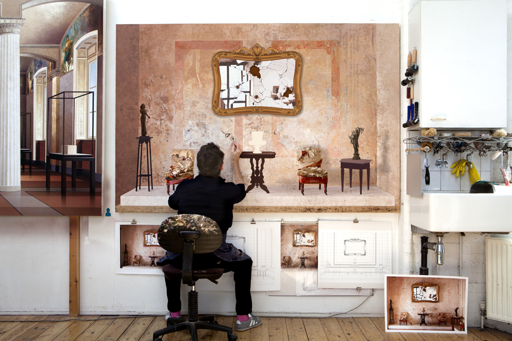 Ben Johnson: At work on 'Room of the Revolutionary' (image courtesy of the artist)