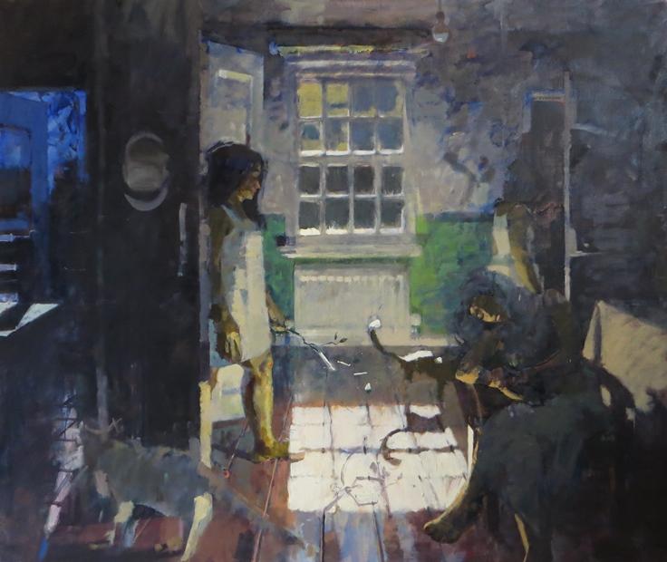 James Bland: 'Full Moon', oil on canvas, 86cm x 96cm
