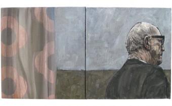 Carl Meek painting. Across boundaries exhibition at Espacio Gallery