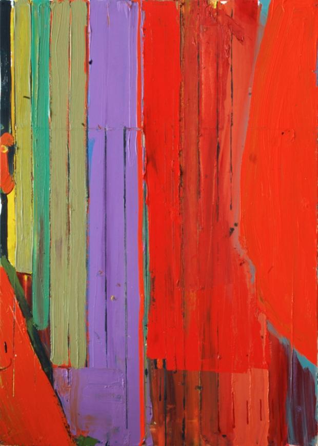 Ashley Hanson: 'City of Glass 26 (avenues..)', oil on canvas, 70cm x 50cm