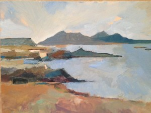 Arisaig by Deborah Walter. Oil on wood. current events painters