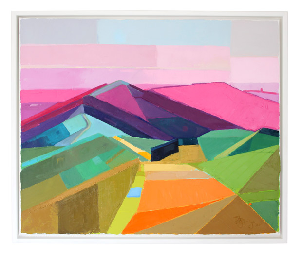 Antony Bridge: 'Malvern Hills Abstract', oil on canvas