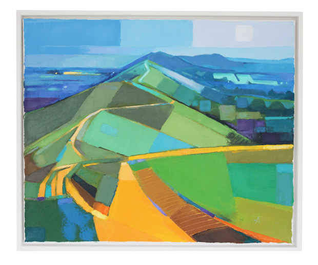 Antony Bridge: 'Malvern Hills Abstract II', oil on canvas
