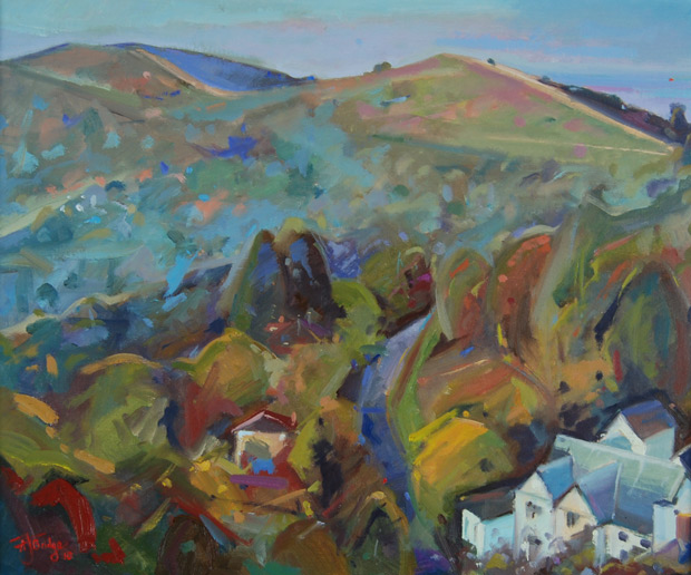 Antony Bridge: 'Plein Air British Camp', oil on canvas