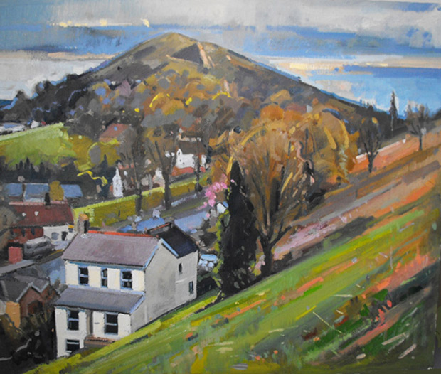 Antony Bridge: 'Wyche Cutting Malvern', oil on canvas