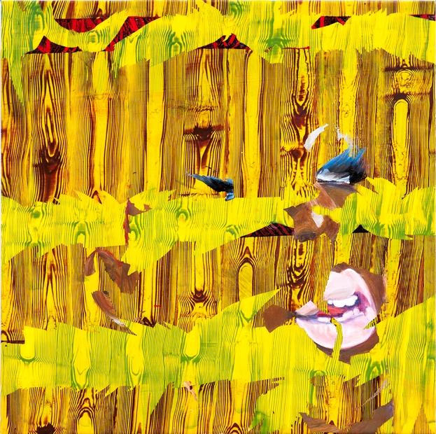 Tina Jenkins: 'Cobra', acrylic and gloss on plastic sheeting, 74cm x 74cm