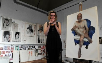 Emma Hopkins in her Studio