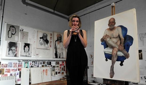 Emma Hopkins in her Studio