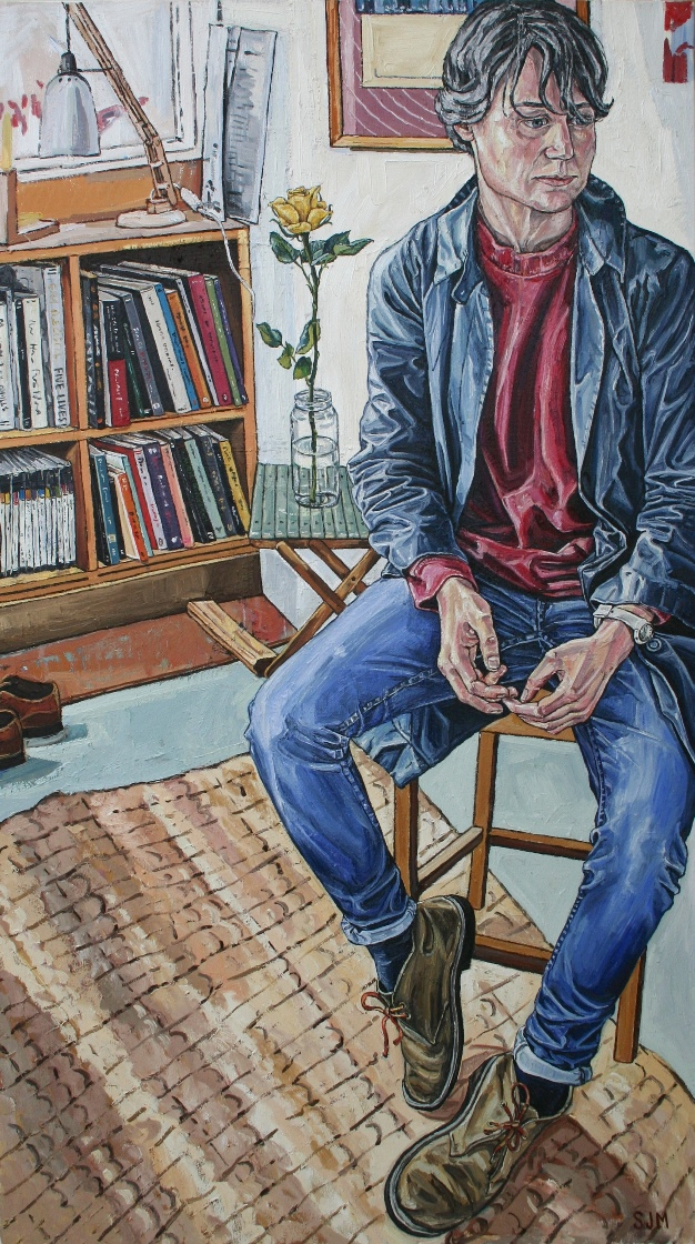 Sarah Jane Moon: 'Emma Leslie', oil on canvas, 87 x 153 cm