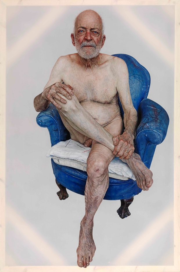 Emma Hopkins: 'Geri Morgan', oil on polyester, 150x100cm