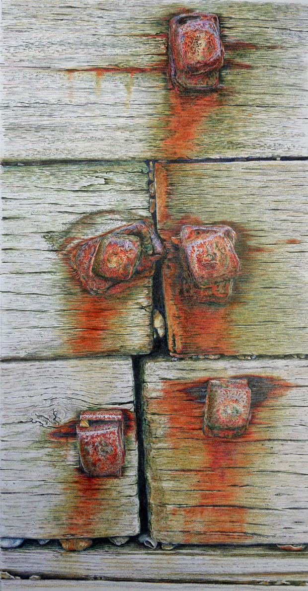 Peter Nelson: 'Salt Water Decay', coloured pencil on paper