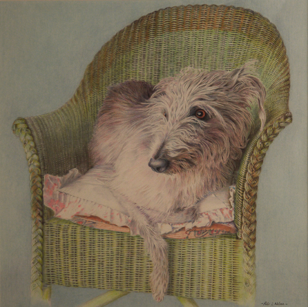 Peter Nelson: 'Flori', coloured pencil on paper