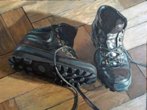 John Shakespeare RBSA  Christine's boots Oil