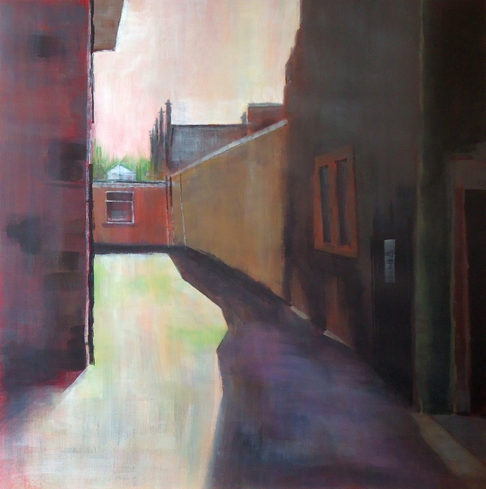 Lindsey Lavender, 'Alleyway 10', acrylic on paper, 60x60cm