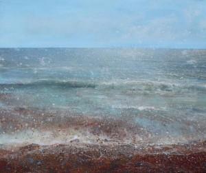 Lorna Holdcroft  seascape acrylic 120x100cm