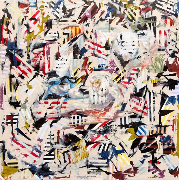 Tina Jenkins: 'Metamorphosis', acrylic and gloss on plastic sheeting, 170cm x 170cm