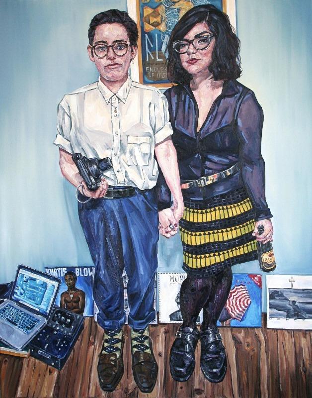 Sarah Jane Moon: 'Louise + Hayley',  oil on canvas, 96 x 119 cm