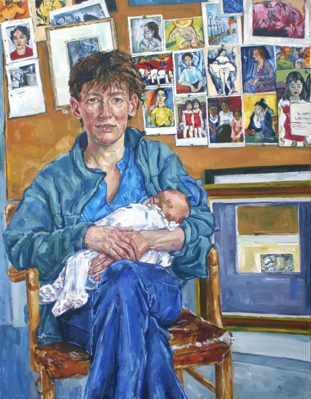 Sarah Jane Moon: 'Rachel, Eleanor and Alice', oil on canvas, 77 x 98 cm