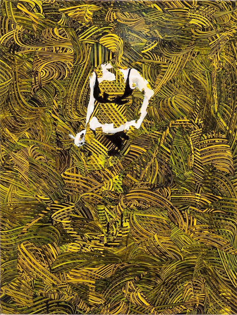 Tina Jenkins: 'Warren I',  acrylic and gloss on plastic sheeting, 75cm x 100cm