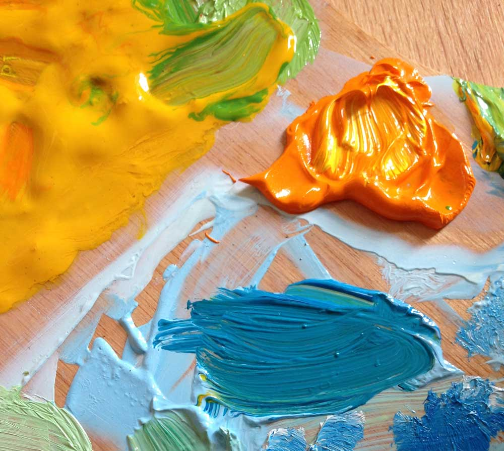 Complementary colours often used in Impressionistic painting.