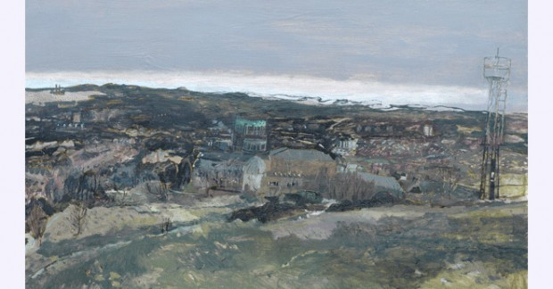 Catharine Davison Observations-(from-Blackford-Hill),-oil-on-board,-74-x-90-cm