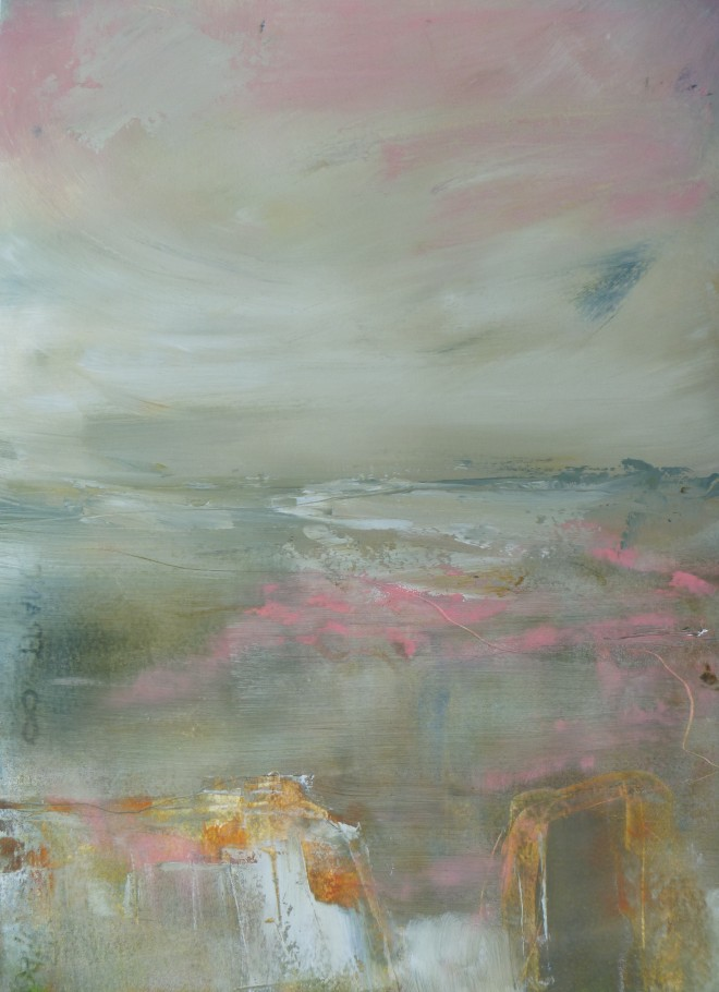Lesley Birch: 'What Lies Beneath', Oil & Wax on 300gsm Arches Paper, 36 x 27 cms