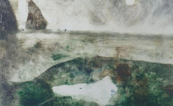 Lesley Birch: 'Benwee Memory', Monoprint with Drypoint on Somerset, 60 x 38 cms