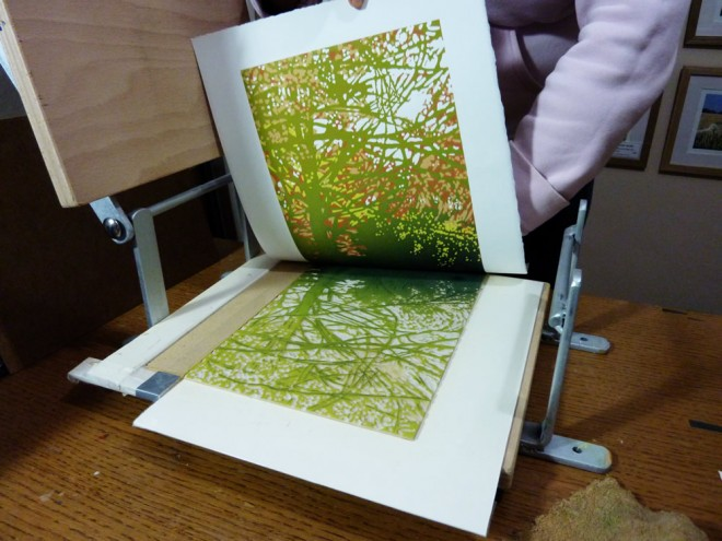 Alexandra Buckle: Printmaking in action