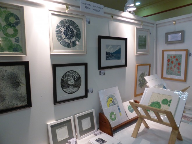 Alison Deegan: Framed prints on display at Crafted by Hand, Masham 2014