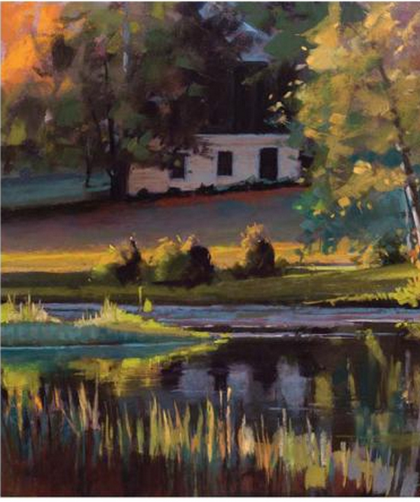 Liz Haywood-Sullivan  pastel painting from the book