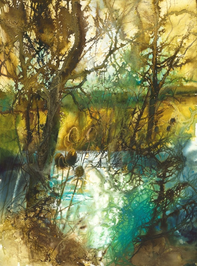 'Teasles by the Pond' by Ann Blockley