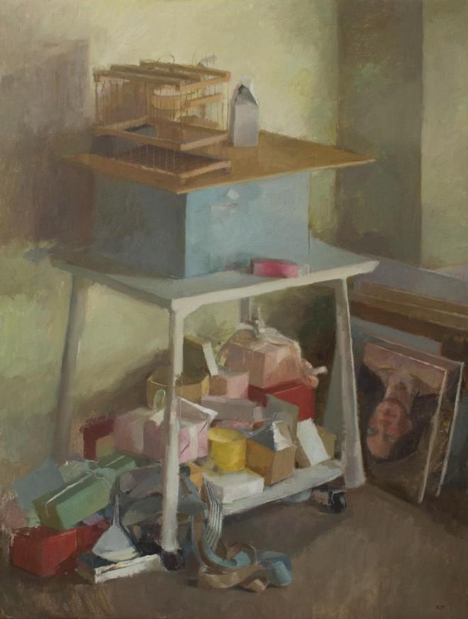 Ilaria Rosselli del Turco: 'Babel', oil on linen, 102x76cm